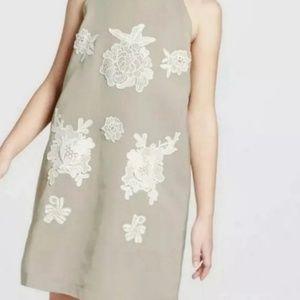Victoria Beckham green floral slip dress size XL